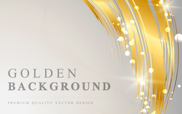 Golden wave abstract background vector