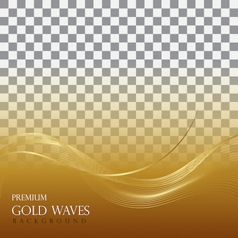 Golden wave background vector