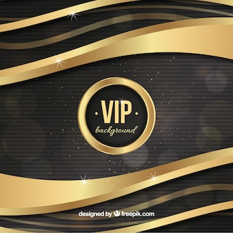 Golden waves vip background