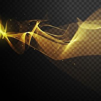 검은 바탕에 황금 물결 모양