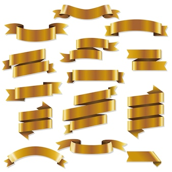 Набор золотых веб-лент