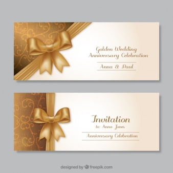 Golden wedding anniversary invitations