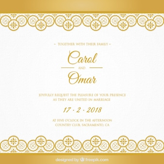 Green wedding invitation card vectors photos and psd files free golden wedding card stopboris Images