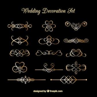 Golden wedding decoration set