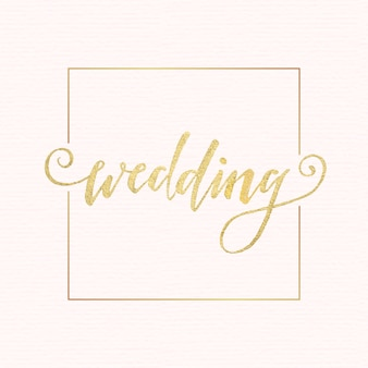 Golden wedding lettering