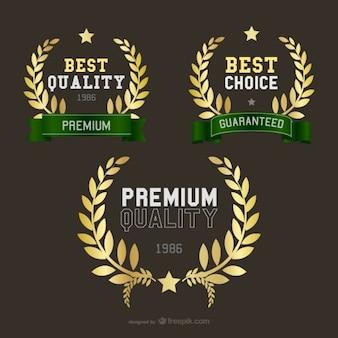 Golden wheat crown logos