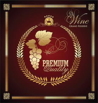 Golden wine label
