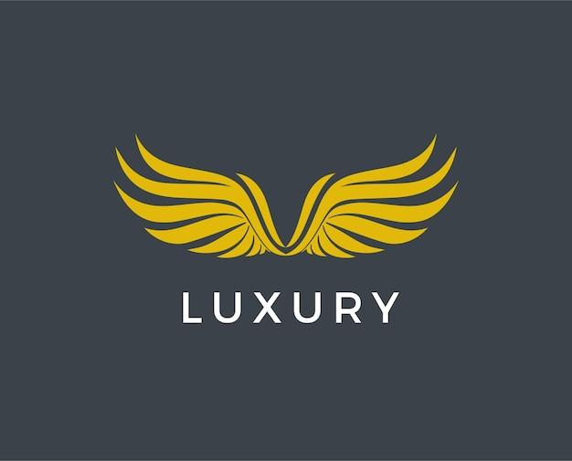 金色の翼のロゴ