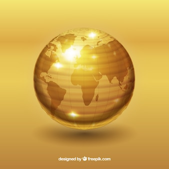 Golden world with atlantic ocean view