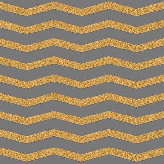 Golden zig zag grey seamless pattern