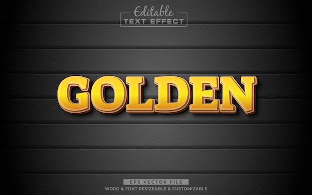 Goldern 3d editable text effect