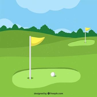 Golf background in flat design