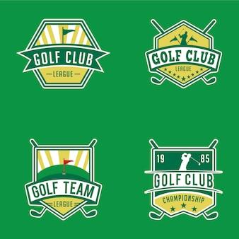 Гольф значки и логотипы