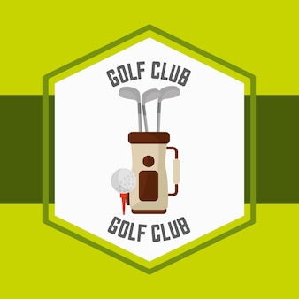 Golf bag ball sport competition label
