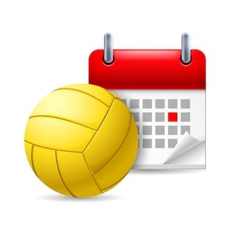 Мяч для гольфа и календарь