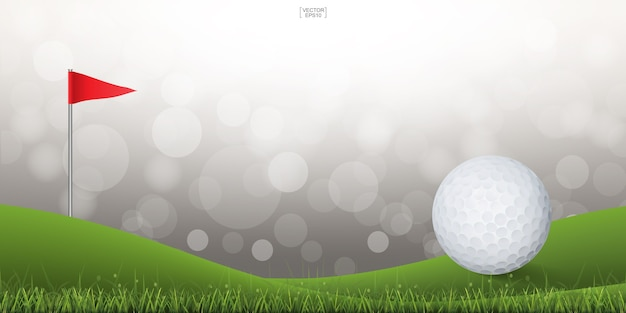 Golf ball on golfing pitch