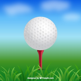 Golf ball in realistic style