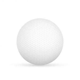 白で隔離されるゴルフボールベクトルイラスト。