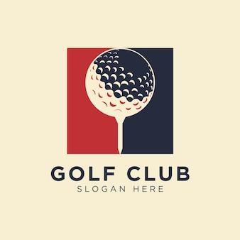 Golf ball logo design vector