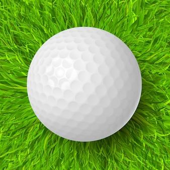 芝生の上のゴルフボール