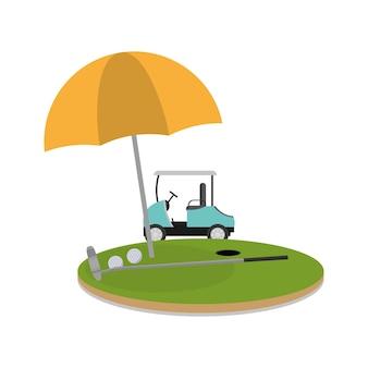 Golf camp field game cartoons