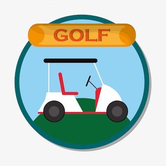 Спортивная эмблема гольф-поля
