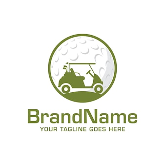 Golf car logo vector template