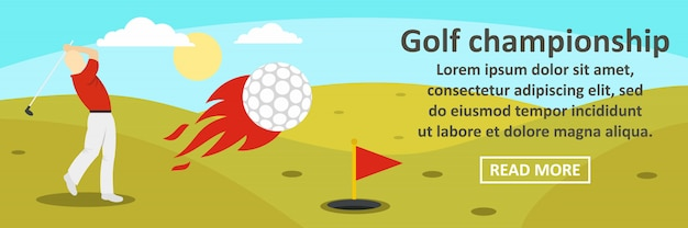 Golf championship banner template horizontal concept