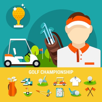 Golf championship concept