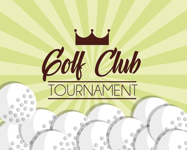 Golf club balls sport game poster
