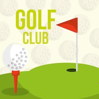 Golf club course flag balls background