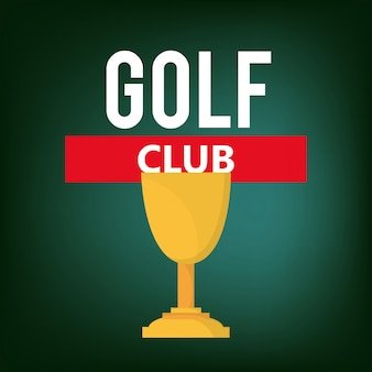 Golf club golfing related icons image