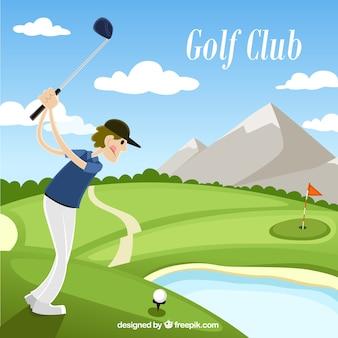 Golf club illustration