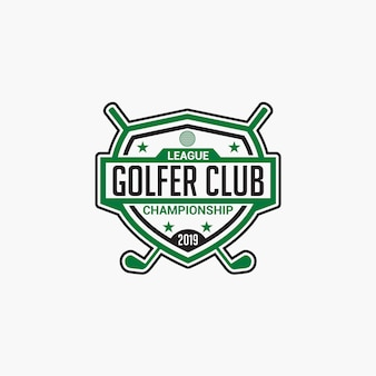 Golf club logo badge