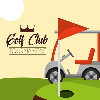 ゴルフクラブトーナメントレッドフラッグコース