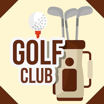 Golf clubs in bag ball equipment
