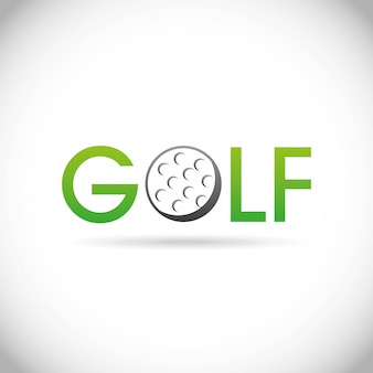 Golf design over gray  background vector illustration