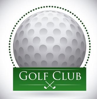 Golf design over gray  background vector illustration