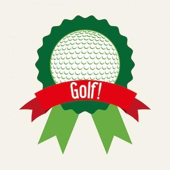 Дизайн для гольфа на белом фоне