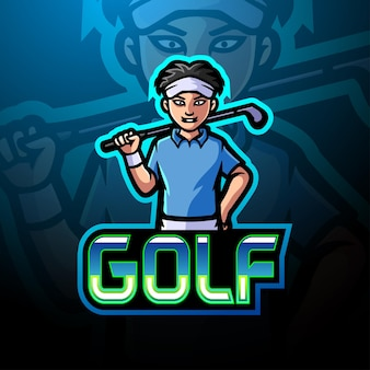 Golf e sport logo mascot design