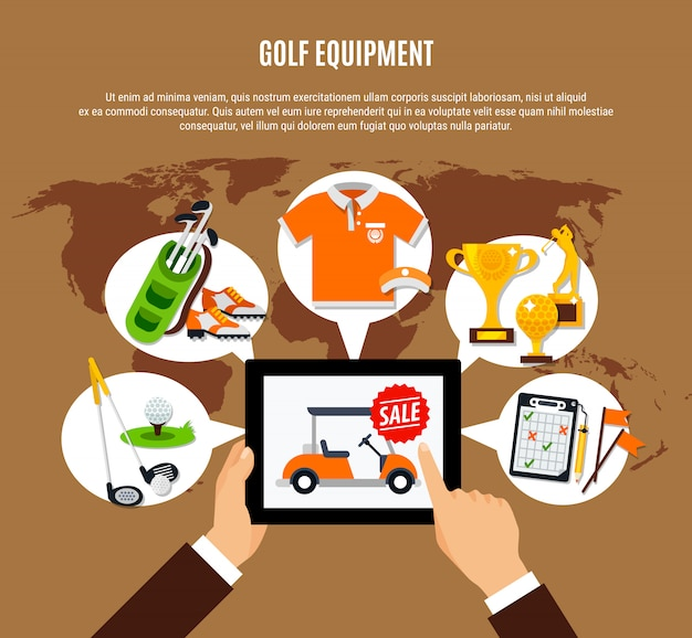 Golf equipment buying online composition