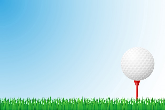 Golf grass field vector illustration