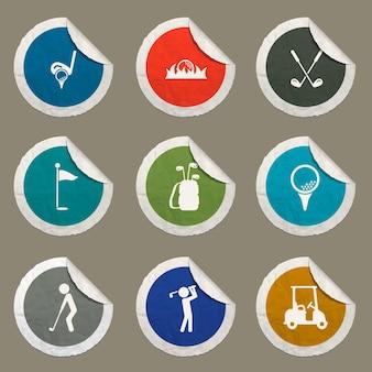 Набор иконок для гольфа для веб-сайтов и пользовательского интерфейса