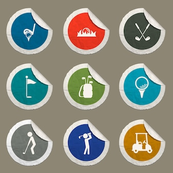 Golf icons set for web sites and user interface