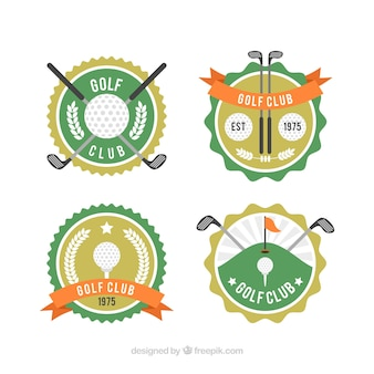 Golf label collection of four
