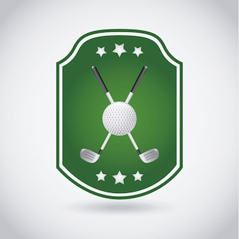 Golf label over gray background vector illustration
