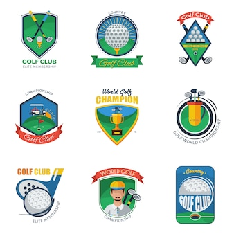 Golf labels set
