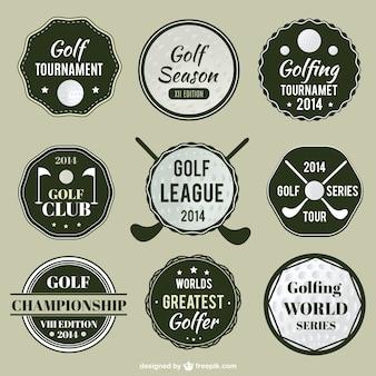 Etichette campionato di golf set