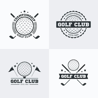 Golf logo collection in flat design