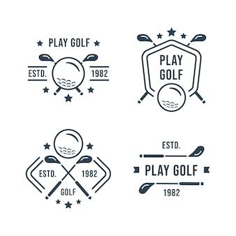 Коллекция логотипов гольфа